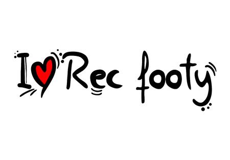 Mensaje de amor rec footy sport Ilustración de vector