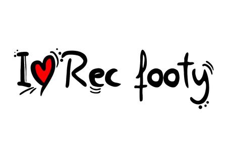 Rec footy sport love message Stock Illustratie