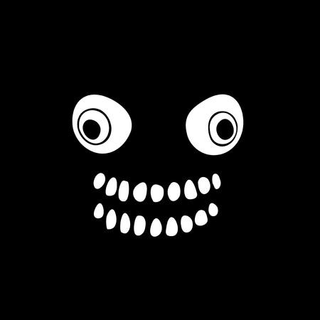 terrifying face illustration Illustration