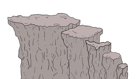 rock stairs illustration