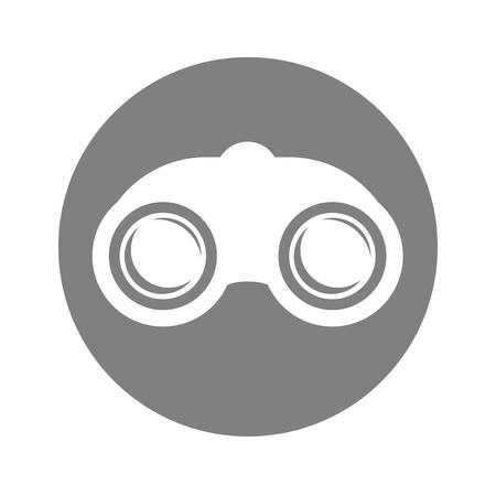 Binocular flat icon Illustration