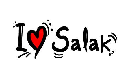 Salak love message