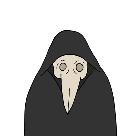 mystery man with vintage plague doctor mask