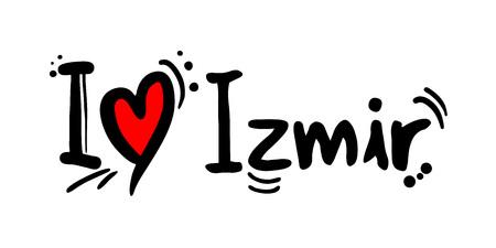 Mensaje de amor de la ciudad de Izmir en Turquía