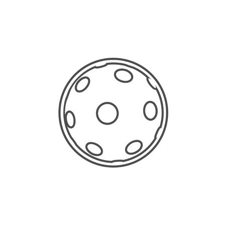 Pickleball symbol design Vektorové ilustrace