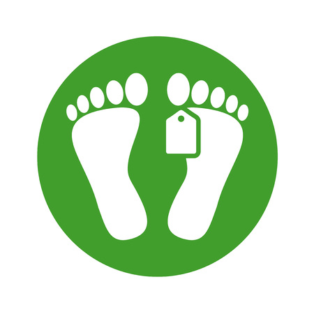dead man foot icon Illustration