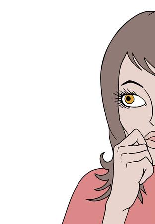 woman watching illustration