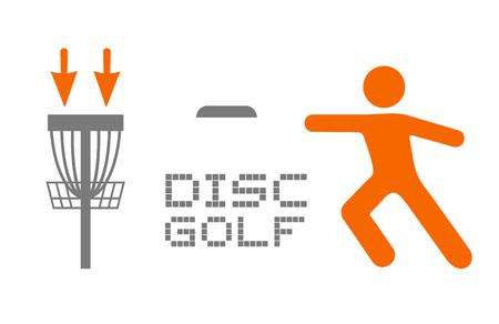 Disc golf sport symbol