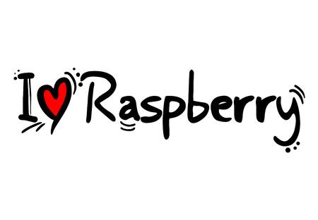 I love Raspberry Ilustração