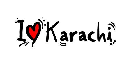Karachi city of Pakistan love message