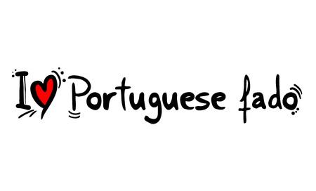 Portuguese fado music style love
