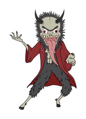 oriental demon draw Ilustrace
