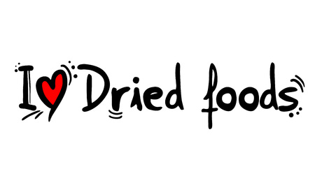Dried foods love message
