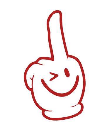 rebel finger pose Vectores