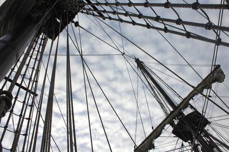 old ship photo detail Standard-Bild