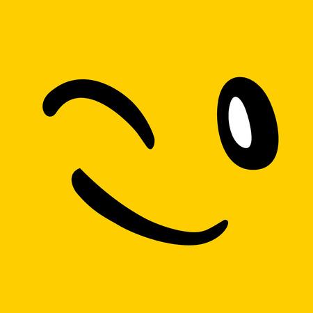smiling face illustration