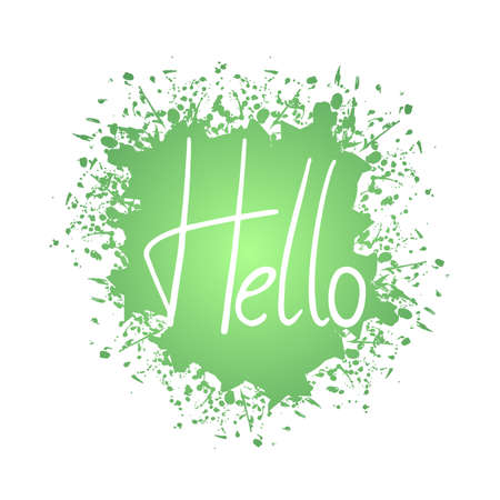 Creative hello message 矢量图像