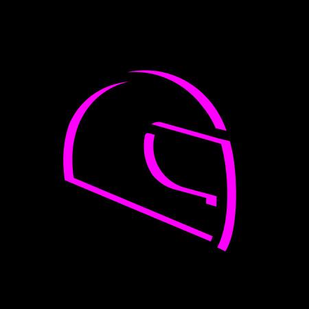 Flat helmet icon Illustration