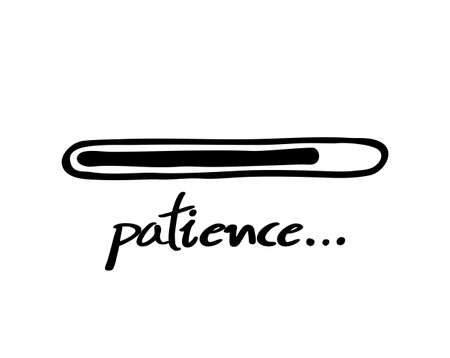 Patience bar illustration on white 矢量图像