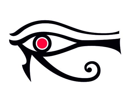 egyptian eye illustration Ilustracje wektorowe