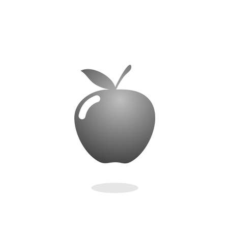 Design of apple icon on white