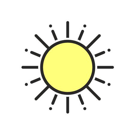 flat sun icon Ilustração