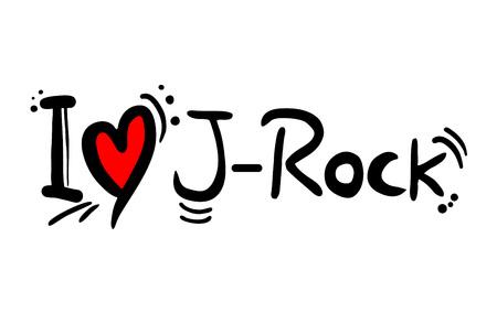 J Rock music style love Illusztráció