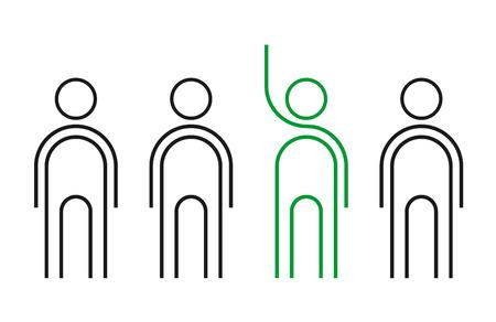 leader man flat illustration