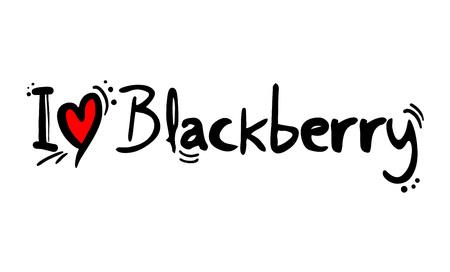 I love Blackberry Ilustração