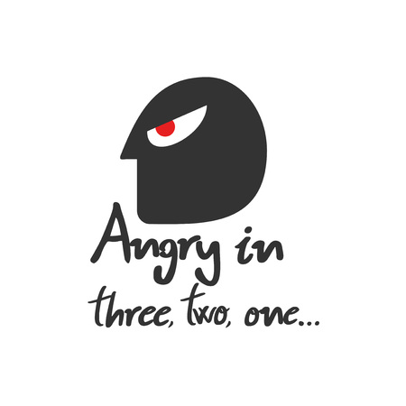 angry expression illustration