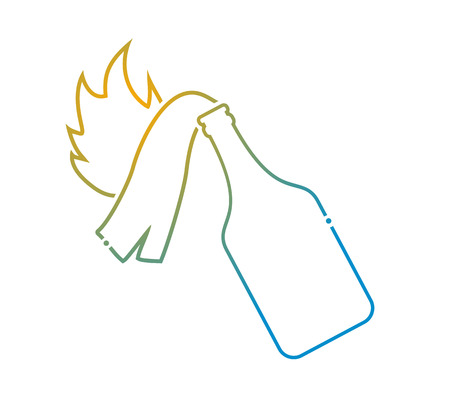 molotov cocktail flat icon Illustration