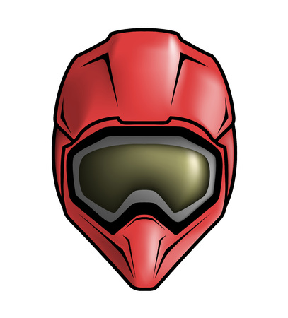 illustrazione di casco da motocross Vettoriali