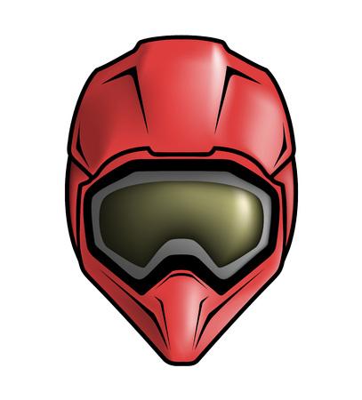 ilustracja kask motocrossowy Ilustracje wektorowe