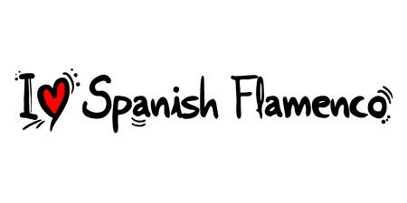 Spanish flamenco love