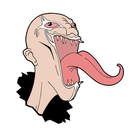 cartoon monster draw Illustration