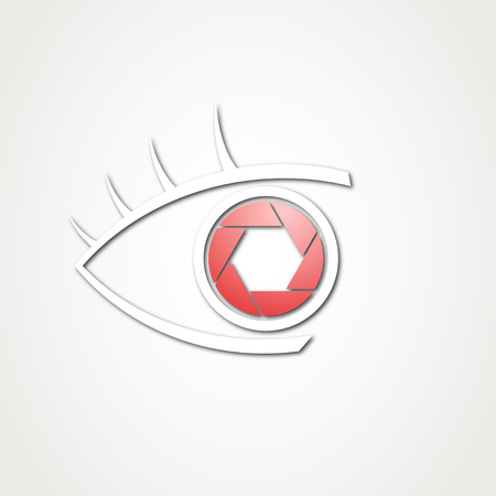 eye with shutter cam symbol