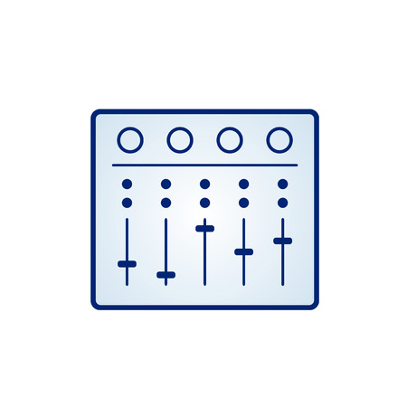 mixing table icon Illustration