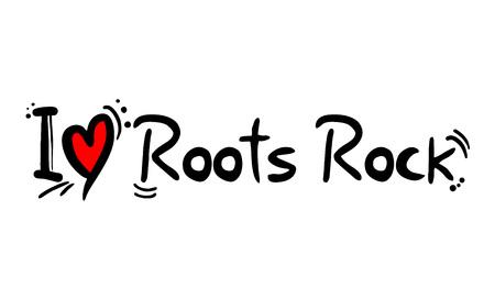 Roots Rock music style love Stockfoto - 123084493