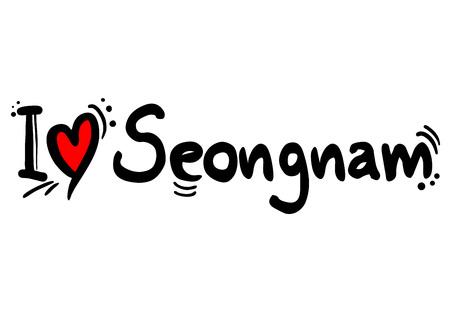 Seongnam, city of south korea love message Archivio Fotografico - 123084502