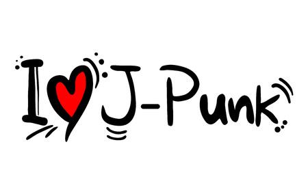 J Punk music style love Illusztráció