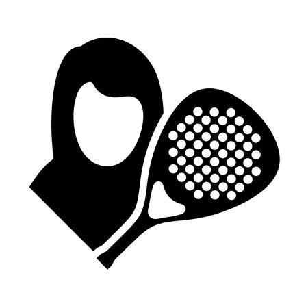 padel player symbol Vectores