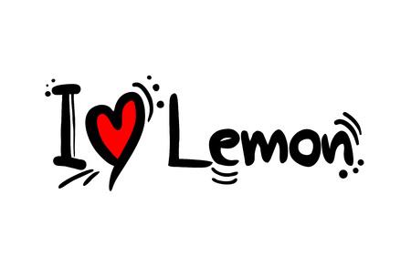 Lemon fruit love message Çizim