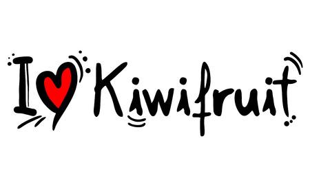 Kiwifruit fruit love message