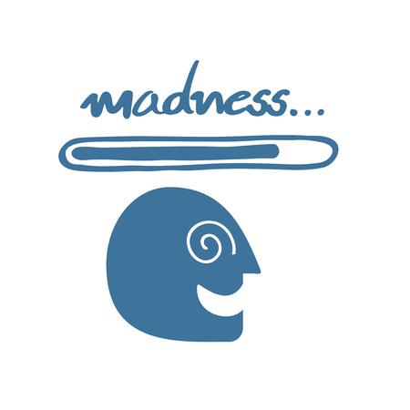 Creative mad icon