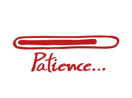 red patience loading bar Vector Illustration