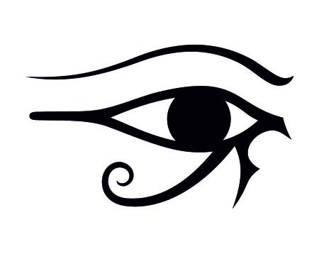 egipskie oko ilustracja Ilustracje wektorowe