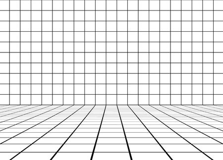 elegant white room Ilustrace
