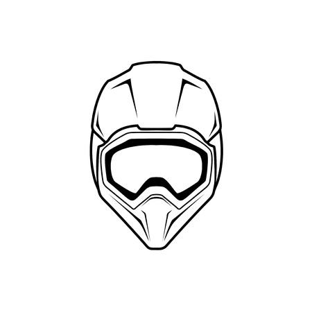 illustrazione di casco da motocross