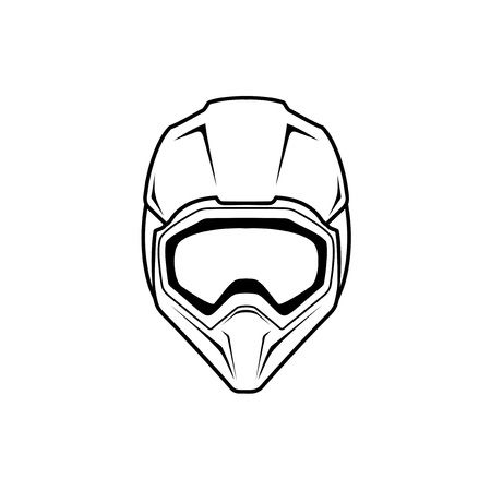 motocross helmet illustration