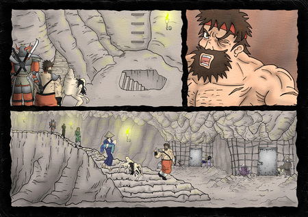 fantasy comic scene background Imagens